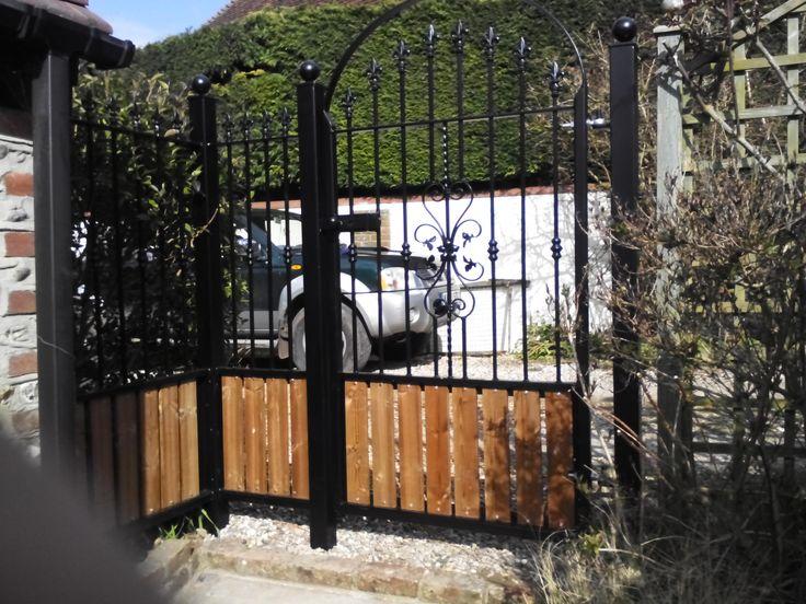 Stunning MRK Installations Secret Garden Metal and Wooden Side Gate