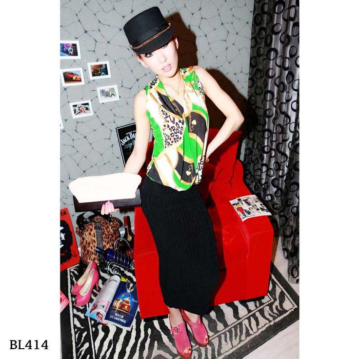 BL414-Green ice cotton - https://www.afwindo.com/shop/pusat-grosir-blouse-murah/bl414-green-ice-cotton/