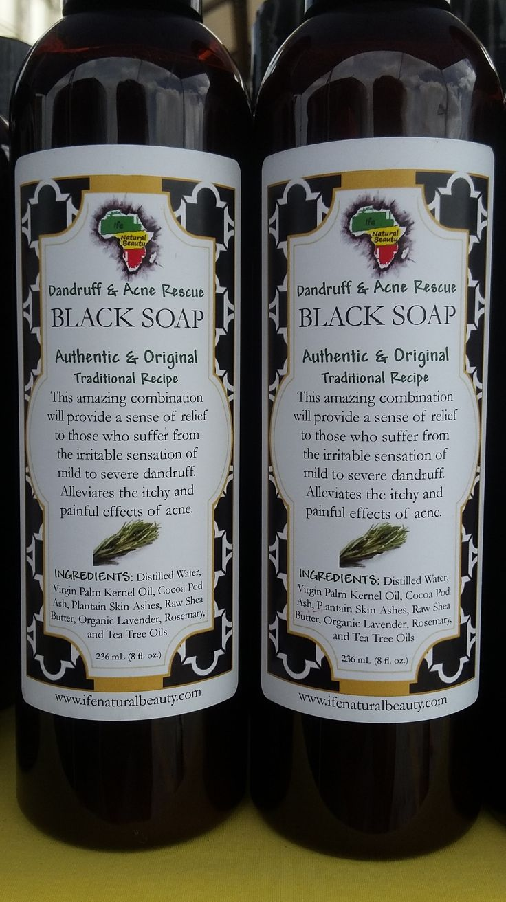 Dandruff & Acne Rescue Black Soap clears up severe acne (dependent upon eating habits) and alleviates severe to moderate dandruff. If you have mild to SEVERE dandruff and you want to get rid of that itch, or if you have acne prone skin, then this is your best choice.