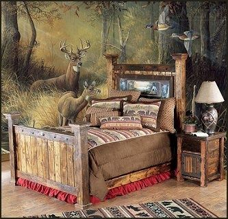 Hunting Lodge Decor | lodge cabin log cabin themed bedroom decorating ideas - ... | Up North
