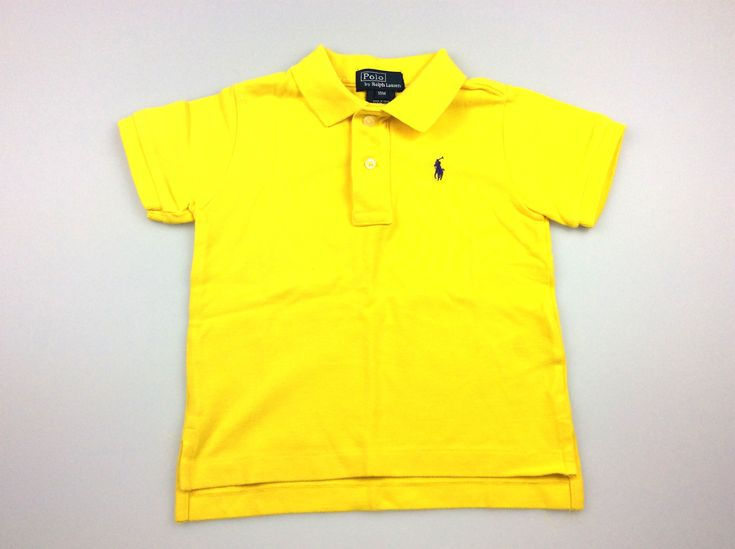 POLO by Ralph Lauren, boy's yellow polo t-shirt, excellent pre-loved condition (EUC), size 18 months, $20 #kidsfashion #boysfashion #poloralphlauren #ralphlauren #daisychainclothing