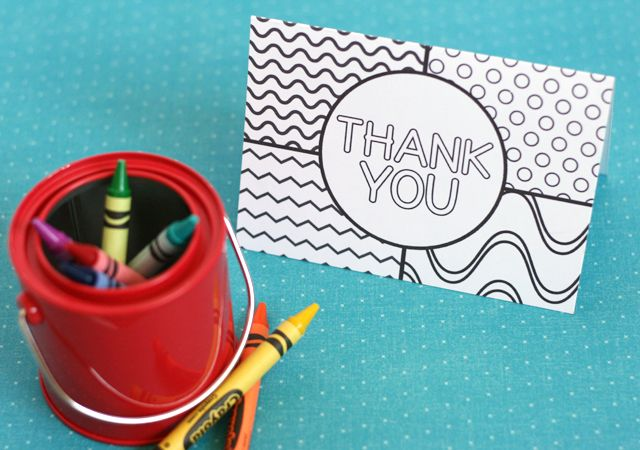 My Sister's Suitcase: Printable Thank You Cards for Kids