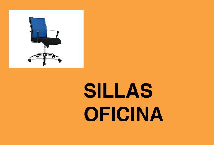 Sillas de oficina, despacho y de director. Con patas cromadas, giratorias, respaldo alto o bajo y apoyabrazos.