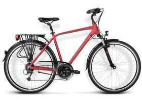 Rower Kross TRANS ALP męski bordowo-granatowy mat 2015. TRANS ALP przeznaczony jest do pokonywania długich i trudnych tras. Lekka i zarazem wytrzymała rama została zbudowana z Aluminium Performance. Zastosowanie amortyzacji w rowerze podnosi komfort podróżowania. #rowertrekkingowy #rowermeski