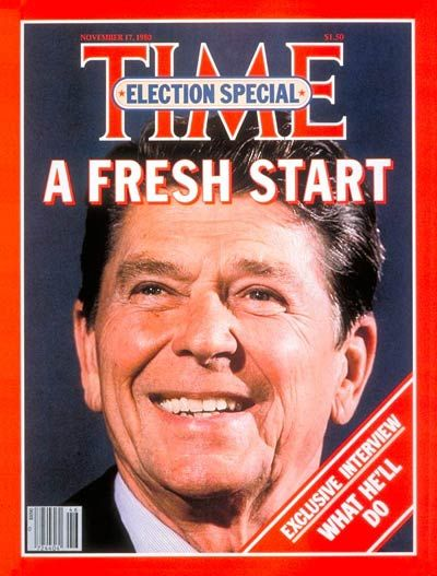 (1) On November 4, 1980 the United States Presidential Election resulted in Republican Ronald Reagan defeating Democratic President Jimmy Carter.  Carter and Reagan were not alone in the 1980 presidential campaign. Representative John Anderson, a moderate Republican from Illinois who had run in his party's primaries, saw Reagan as too conservative and launched an independent campaign for the presidency.  A onetime movie star and president of the Screen Actor's Guild (1947–1952),
