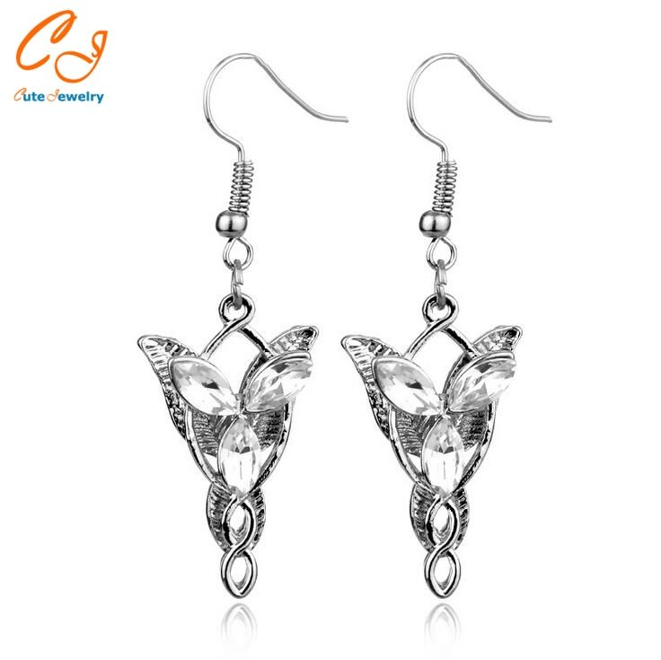 2016 New Film Stars The Same Paragraph Statement Earrings Wholesale Earrings Jewelry Exaggerated Lord Of The Ringer Elf Retail
