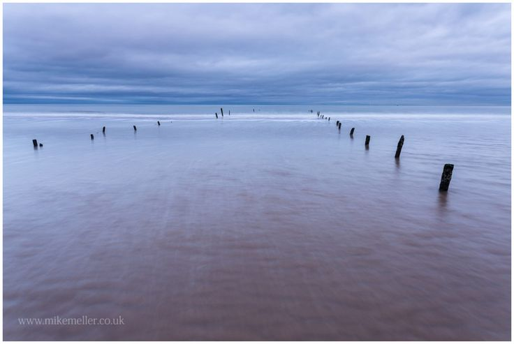 North Sea at Montrose Beach, SCOTLAND. Water Lines.