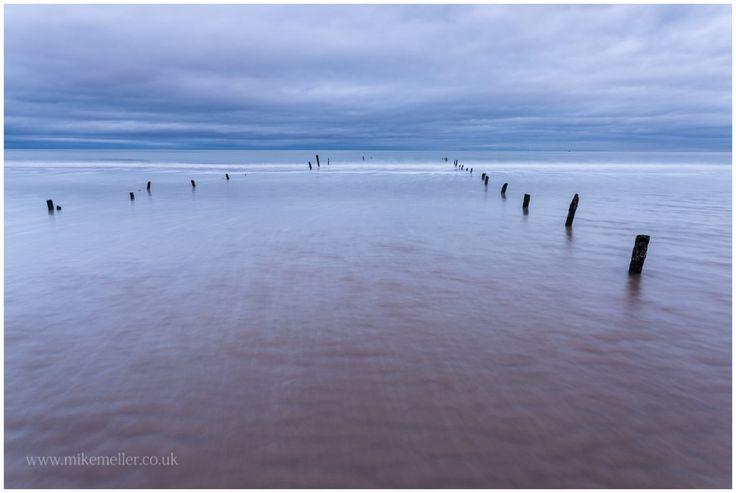 North Sea at Montrose Beach, SCOTLAND. Water Lines.