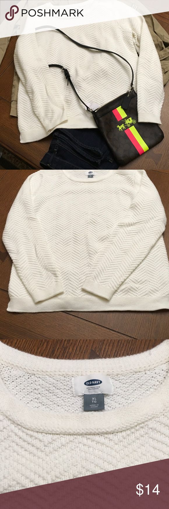 Great Basic Winter Cream Old Navy Sweater Great Basic Winter Cream Old Navy Sweater. Use is as a blank canvas for all your great scarves and jackets. Old Navy Sweaters Crew & Scoop Necks