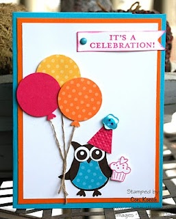 Stampin' Up!  Owl Punch  Cori Lozak  Birthday