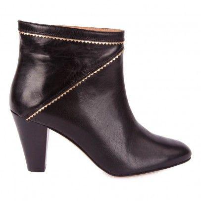 Boots Cuir Vache Frelon Noir