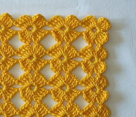 Crochet Flower Stitch - Chart ❥ 4U // hf