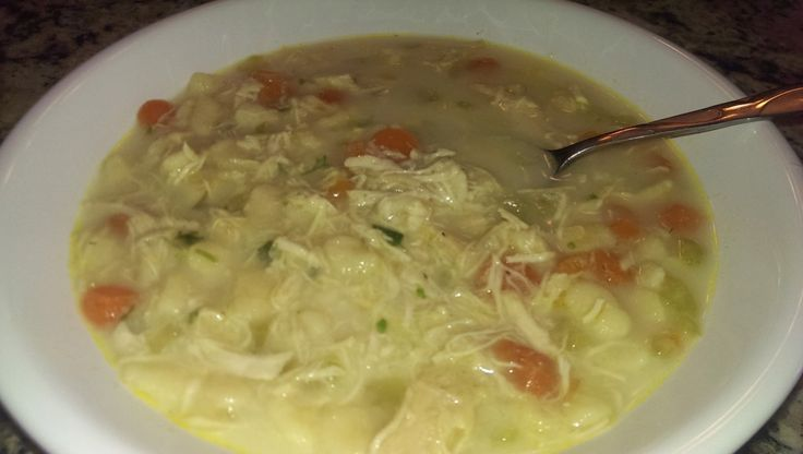 Chicken Spaetzle Soup This is perfect for that cold winter day. If your worried about finding spaetzle, you can always make it. Check with your grocer and have them order it for you. I wanted a