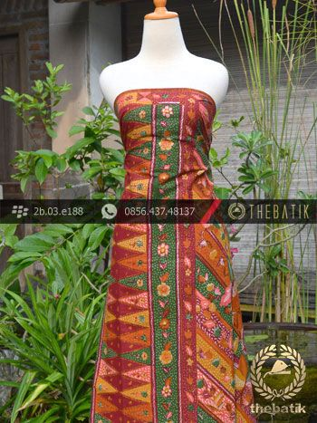 Batik Tulis Cirebon Motif Tumpal Buketan-1   #Indonesia Traditional #Batik Tulis #Design. Hand-dyed Process http://thebatik.co.id/kain-batik-bahan/batik-tulis/