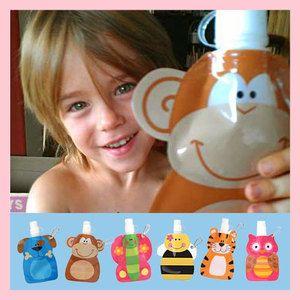 Mini borraccia a sacchetto (per l'acqua o il succo!) - Bella Mamma - vendita on line prodotti per bambini, giochi, accessori, negozio compra online