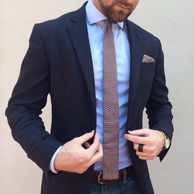 Sports Coat And Jeans Leather Shoes Matching Leather Belt