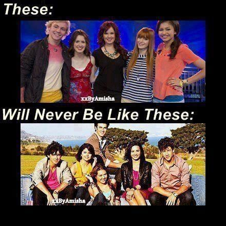 YESSS!! That is the truth! But at the same time Raven Symone(That's So Raven), Hilary Duff(Lizze McGuire), Ricky Ullman (Phil Of The Future)..are the original Disney!!❤ But I also love Selena Gomez(Wizards Of Waverly Place), Jonas Bros (JONAS/Camp Rock)Demi Lovato(Sonny With A Chance/Camp Rock) & Miley Cyrus.(Hannah Montana)
