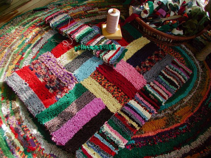Buckster's Scrap Happy Stripity Shirret Rug! | by Buckster's Pics