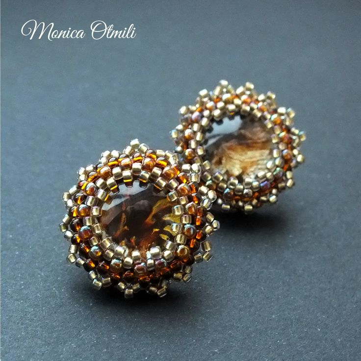 'Time For Cofee' earstuds by Monica Otmili