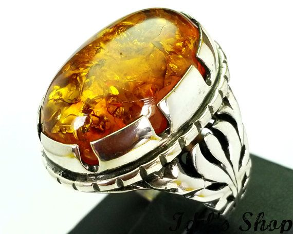 Men's Ring Turkish Ottoman Style Jewelry 925 Sterling by IdilsShop, $140.00