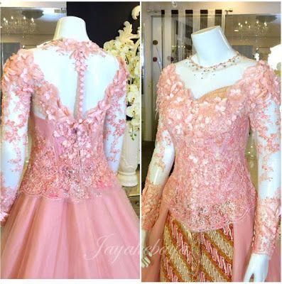 Wedding kebaya modern dress pink 2016