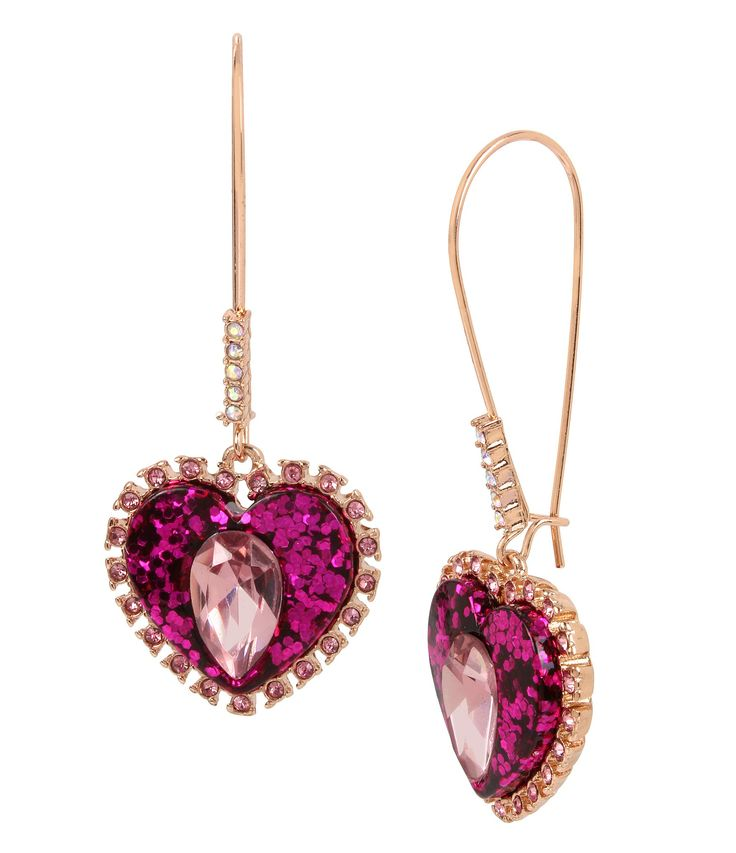 Shop for Betsey Johnson Pink Heart Drop Statement Earrings at Dillards.com. Visit Dillards.com to find clothing, accessories, shoes, cosmetics & more. The Style of Your Life.