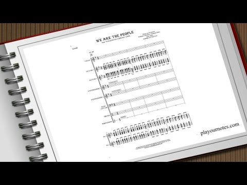 """We Are the People - Empire of the Sun from album """"Walking on a Dream"""". We present score of this song, as well as sheet music for each instrument separately in several variations.  Sheet music available at https://playournotes.com/en/sheet-music/we-are-the-people"""