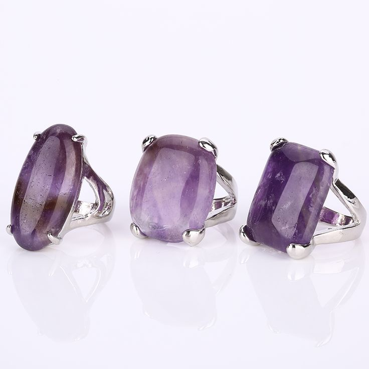 Size 7,8,9,10,11 many styles New 2016 retro fashion trend of men and women engaged purple fine jewelry consignment