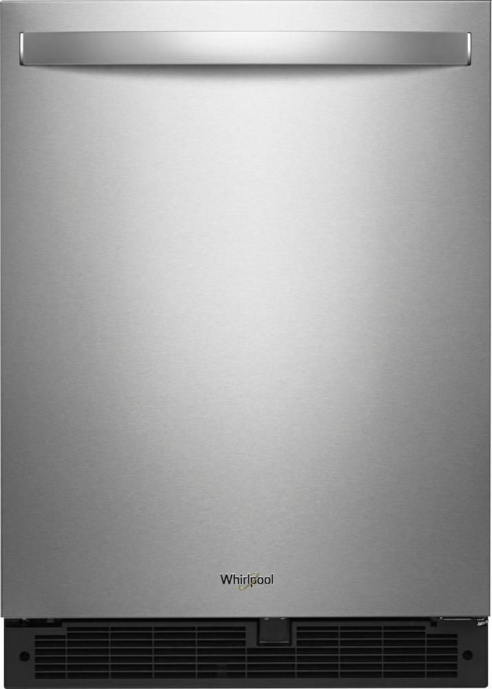 Whirlpool - 5.1 Cu. Ft. Mini Fridge - Stainless steel (Silver)
