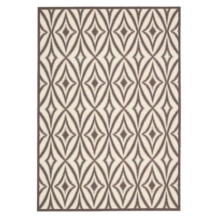 Waverly Tile Indoor/Outdoor Rug - Gray (10'x13'), Grey