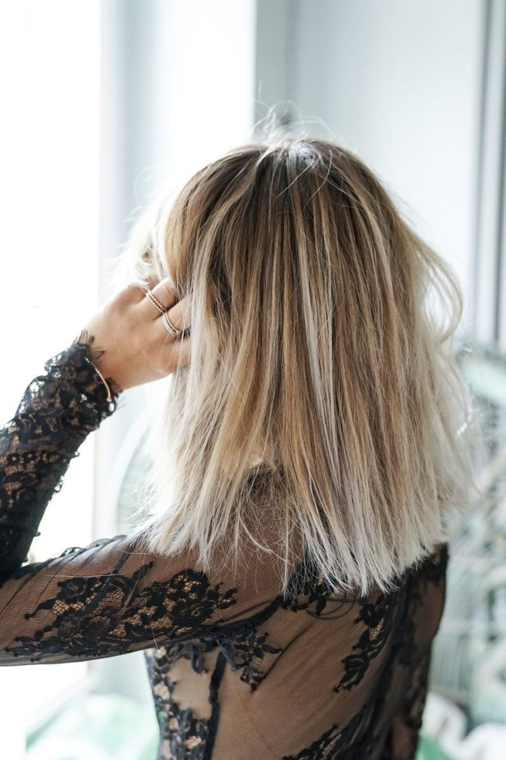 balayage blond platine sur cheveux noir. Black Bedroom Furniture Sets. Home Design Ideas