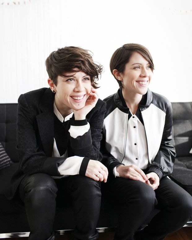 Tegan and Sara in Spin Magazine. Photo by Brian Sorg *Yang/Flamboyant Gamine inspiration