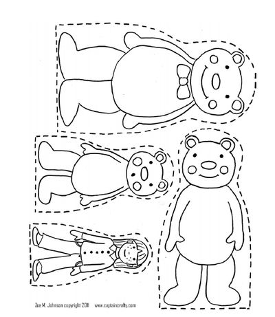 3 bears and goldilocks puppets and animation and speaking activity