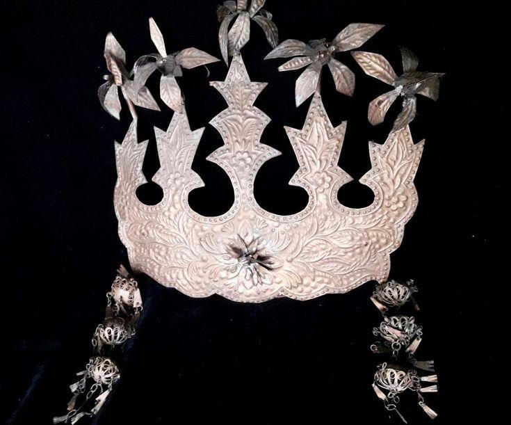 Padang Sumatra Headdress Crown Art Jewelry Adornment Wedding Ceremonial Culture #Indonesianjeweler