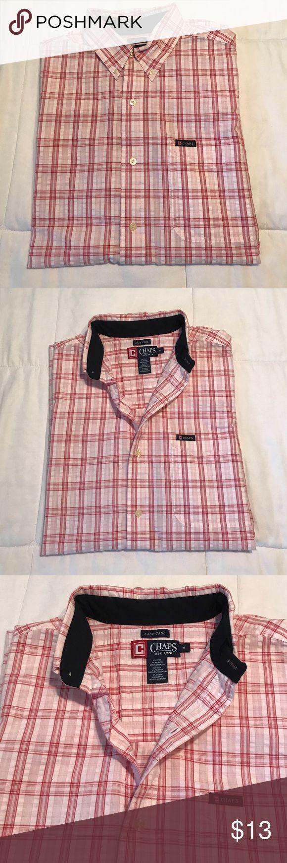 Chaps Ralph Lauren men's shirt. Chaps Ralph Lauren men's shirt. EUC. Size M. Short sleeve Chaps Ralph Lauren Shirts Casual Button Down Shirts