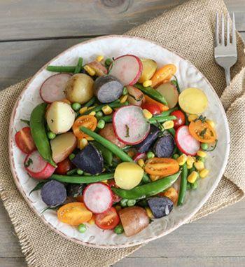 Tri-Coloured Potato Salad | EarthFresh