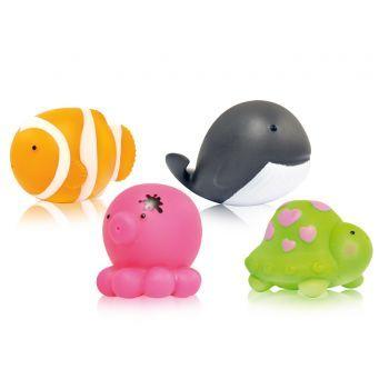 Set 4 Jucarii pentru Baie Lorelli animale marine