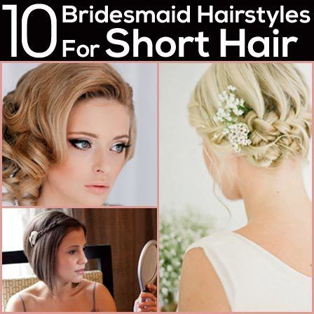 Looking for the hairstyles so as to sport on an appropriate hairstyle for short hair on the big day? Here are top bridesmaid hairstyles for short hair from which you can choose..