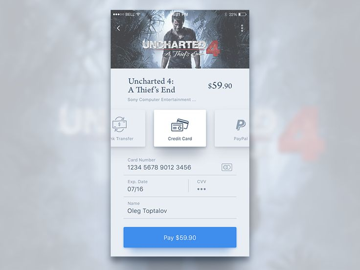 Store.Game Payment. by Oleg Toptalov