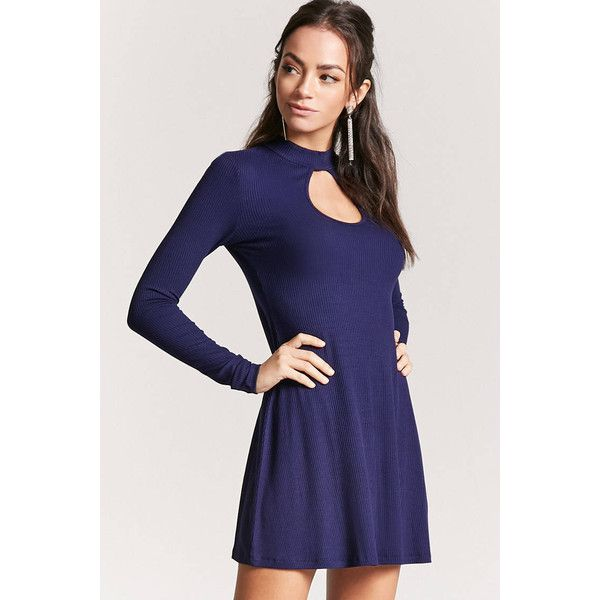 8b04740a7d Forever21 Cutout Swing Dress ( 15) ❤ liked on Polyvore featuring dresses