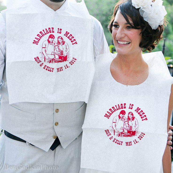 Dude I want to wear a bib at my wedding.   The cliche board of wedding shit   Pinterest ...