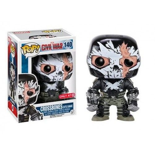 Funko CW Crossbones Battle Damage, Target Exclusive, Marvel, Civil War, Guerra Civil, Ossos Cruzados, Funkomania