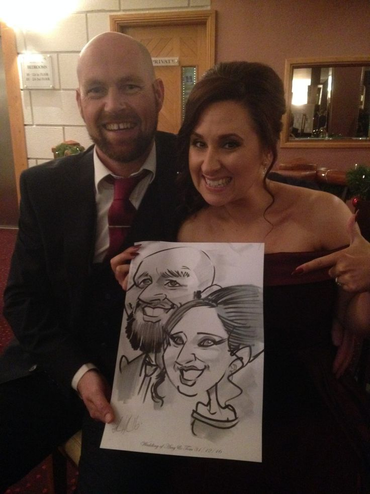 Timelapse of Wedding Caricatures being Drawn by Me!  Here's a timelapse video of me drawing a couple at a wedding in the Woodlands Hotel Waterford on New Year's Eve. It's about 5 minutes in real time. ... Laughing couple with caricature by Irish artist Allan Cavanagh, Woodlands Hotel, Waterford  #AllanCavanagh #caricatures #cartoon #funnydrawings #livecaricatures #timelapse #waterford #wedding
