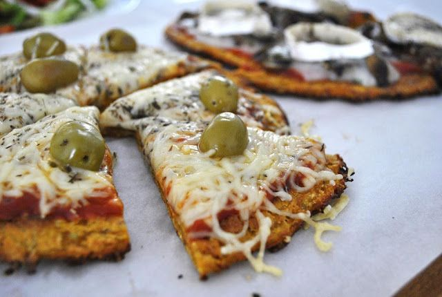 Exquisito Vegetariano!: Pizza con masa de zanahoria (sin harina)