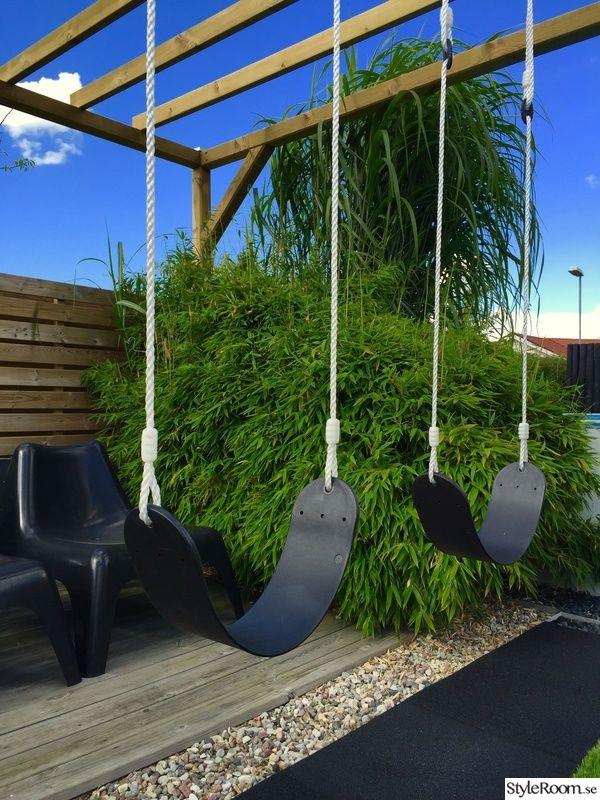 bambu,pergola,gunga,gummimatta