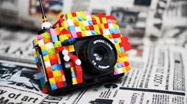 from www.fuzzyeyeballs.com blog-love it!: Lego Camera, Camera Fashion, Fashion Forward, Camera Design, Camera Stuff, Holga Camera, Forward Camera, Photography Inspiration, Lego Holga