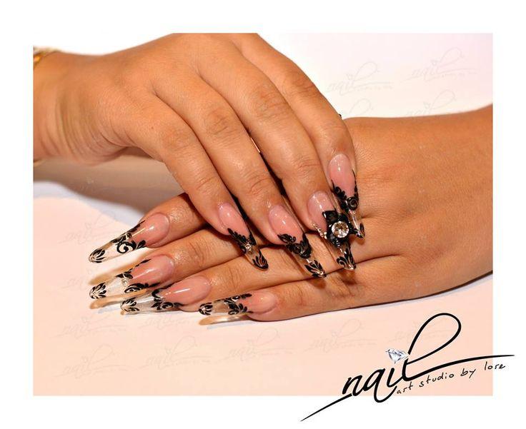 nails  gel extensions design trend 2014 nail art