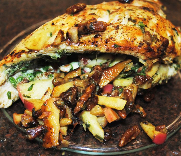 APPLE PECAN STUFFED CHICKEN BREASTS - The rich savory flavors of ...