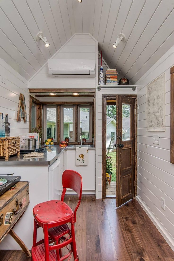 View toward kitchen the alpha tiny home by new frontier tiny homes - New Frontier Tiny Homes In Nashville Has Been Making Waves With Their Alpha Tiny House
