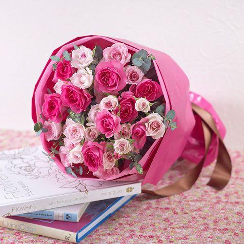 花束「ローズ」|日比谷花壇|フラワーギフト通販